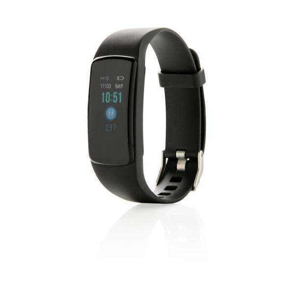 Stay Fit activity tracker met hartslagmeter, zwart